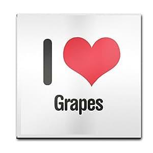 I Love uvas cristal posavasos 2227