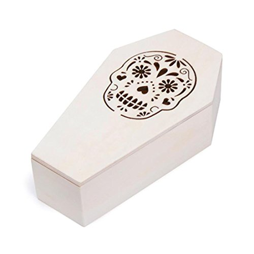 Darice Plywood Coffin with Sugar Skull,Unfinished, 4 x 7 inches]()