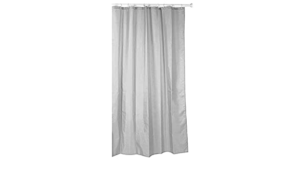 Cortina de ducha de tela ((poliéster) 140 x 200 cm uni gris/gris ...