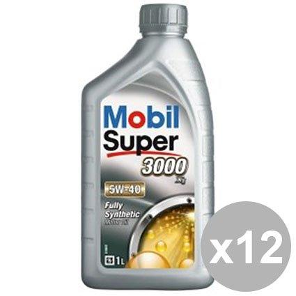 MOBIL 12 Set Mobil Súper 3000 X1 aceite 5W-40 12X1L Eu Sw ...