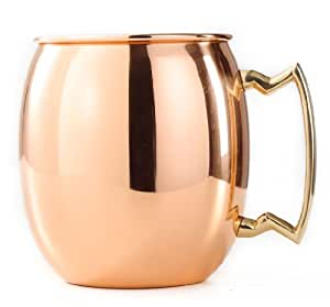 Old Dutch Nickel-Lined Solid Copper Moscow Mule Mug, 16 Oz.
