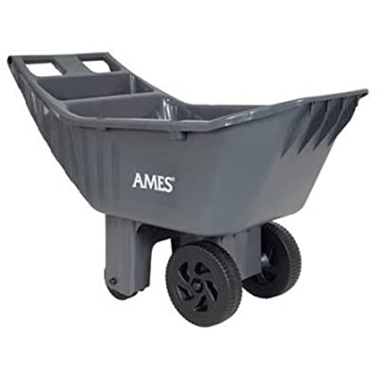 ames easy roller poly yard cart 2463875 - Ames Garden Cart