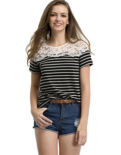 Floerns Womens Multicolor Sleeve T shirt product image