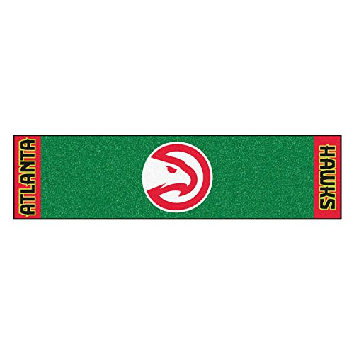 Fanmats Home Indoor Sports Team Logo Atlanta Hawks Putting Green Runner Mat 18