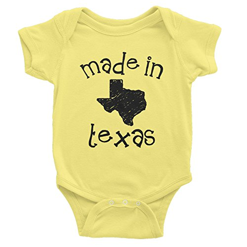 Made In Texas - 001 - Funny Texas Baby Infant Onesie One Piece - Banana (Texas In Made Onesie Baby)