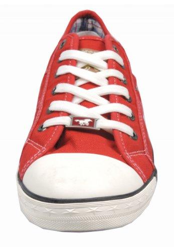 Mustang Schnürhalbschuh - Zapatos deportivos, color Rojo, talla 42