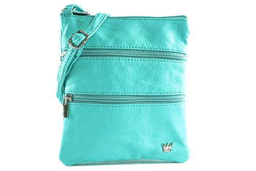 - Purse King Countess Turquoise Cross Body Bag