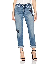 Women's Jessica Boyfriend Jeans with Flower Embroidery