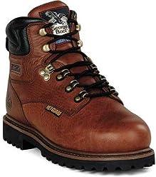 Work Boots, STL, Met Grd, Mn, 10.5M, BRN, PR
