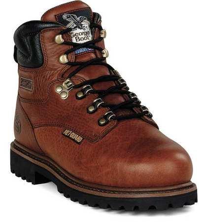 (Work Boots, STL, Met Grd, Mn, 12W, BRN, PR)
