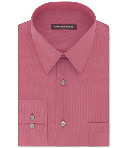 Geoffrey Beene Men's Classic-Fit Wrinkle Free Bedford Cord Dress Shirt (Candy, 16.5X34/35)