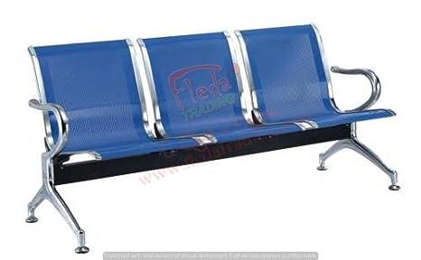 Sedie Ufficio Blu : Sedia panca d attesa in metallo per ufficio a posti colore blu