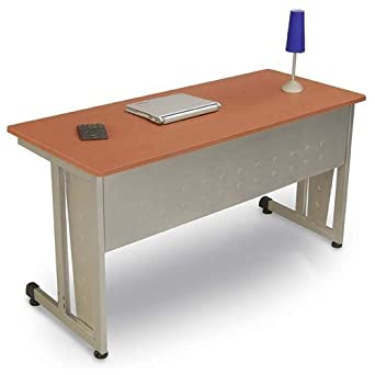 Beau OFM Modular Training Desk With Wheels   Contemporary Durable Office Table,  Cherry, 24u0026quot;