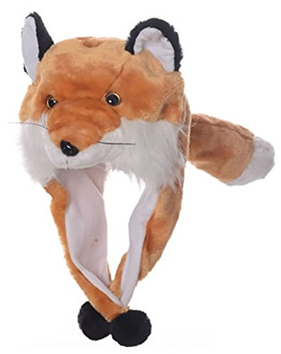 [Animal Head Super Soft Plush Childrens Hat - Fox] (Fox Hat Costume)