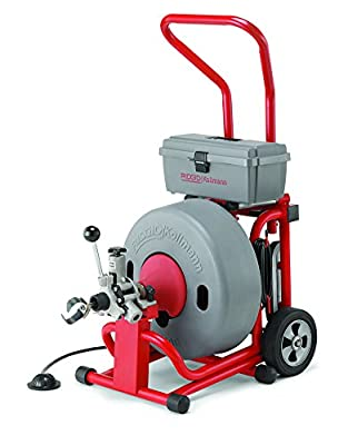 RIDGID 93557 K-6200 Drum Machine with 5/8 Inch Solid Core Cable and AUTOFEED Control, Drain Cleaner Machine and Drain Cleaning Snake