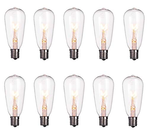 Goothy ST40 Edison Style Bulbs Replacement Screw Base Light Bulbs(Pack of 10)