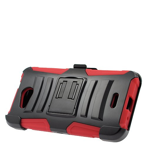 2Layer Ruggged Side Stand Case Cover w/Holster Belt Clip for Kyocera Hydro Wave C6740 C6740N / AT&T Kyocera Hydro Air C6745 Phone from Express Wireless