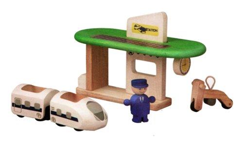 Gare Ecologique Jouet en bois PlanToys PT6230 V/éhicule