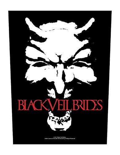 XLG Black Veil brides face Back - Bride Veil Black