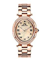 Porsamo Bleu South Sea Oval Crystal Stainless Steel Rose Tone Women's Watch 106ASSO