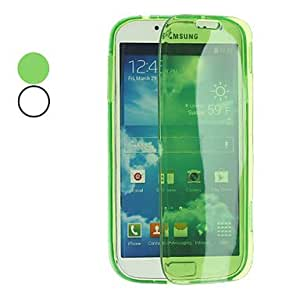 TOPQQ Transparent Soft Full Body Case for Samsung Galaxy S4 I9500 (Assorted Colors)
