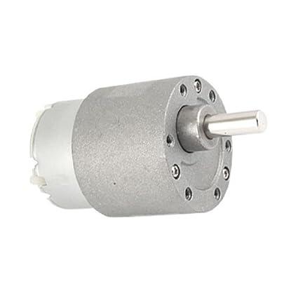 Amazon.com: DealMux 12V DC 0,5A 150 rpm elétrica velocidade Reduzir Gear Box Motor 37 milímetros: Automotive
