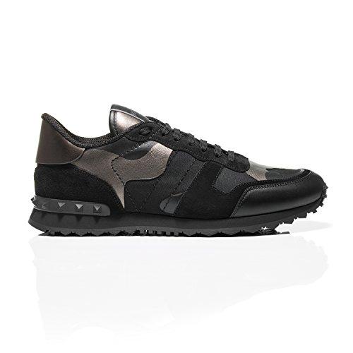 Valentino Mannen Sneaker Zwart En Brons