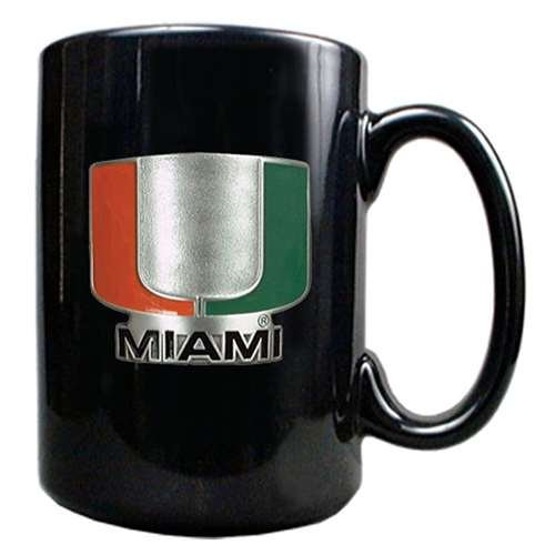 GAP Miami Hurricanes 15oz Black Ceramic Mug ()