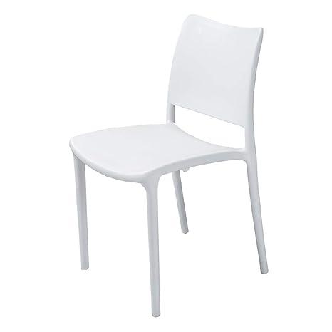 Amazon.com: Taburete de plástico, silla de comedor, silla de ...
