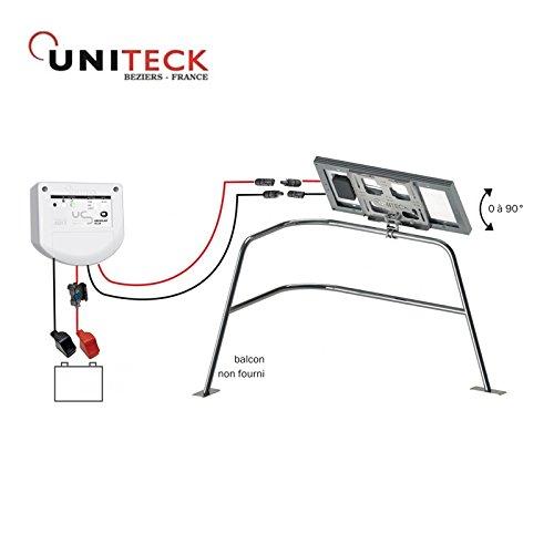 Kit solar 20W–Balkon–Segeln–uniteck