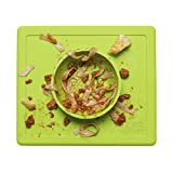 ezpz Happy Bowl (Lime) - 100% Silicone Suction Bowl with Built-in Placemat for Toddlers + Preschoolers - Dishwasher Safe