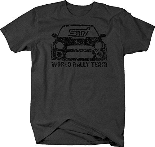 Lifestyle Graphix Distressed - Subaru STI WRX World Rally Team Racing Bug Eye Tshirt - 2XL (Racing Team Chevy)