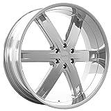 car 26 inch rims - Kronik ZERO 401 Chrome Wheel with Chrome Finish (26x9.5