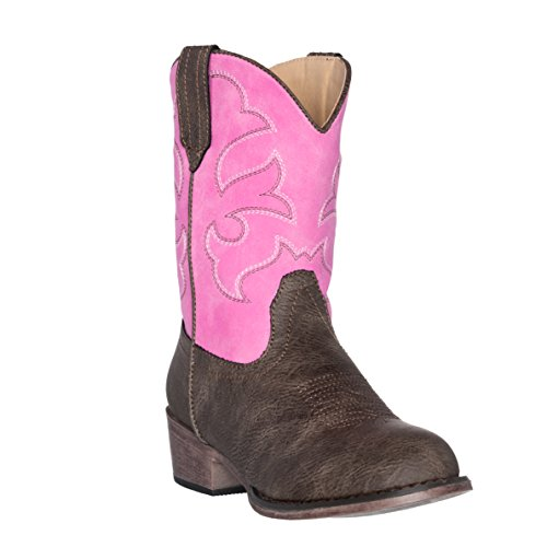 Children Western Kids Cowboy Boot,Pink,7 M US Toddler -