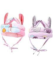 T TOOYFUL Sombrero de seguridad infantil ajustable de 2 piezas para caminar anticolisión