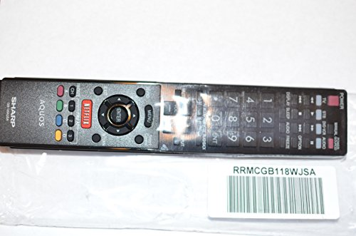 Sharp LED TV Remote Control GB118WJSA Supplied with models: LC-60EQ10 LC-60EQ10U LC-60SQ10 LC-60SQ10U LC-60SQ15 LC-60SQ15U LC-60SQ17 LC-60SQ17U LC-60TQ15 LC-60TQ15U LC-70EQ10 LC-70SQ10 LC-70SQ10U LC-70SQ15 LC-70SQ15U LC-70SQ17 LC-70SQ17U LC-70TQ15 LC-70TQ