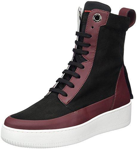 Womens Shoes Boss (Hugo Women's Farrel 10202347 01 High Sneaker, Red (Dark Red), 5 UK)