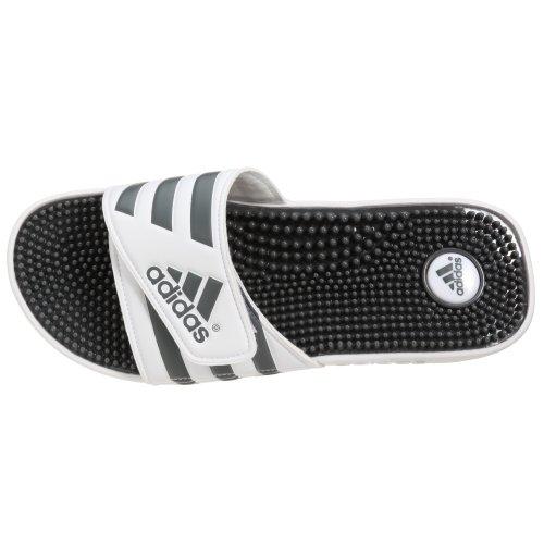 adidas Adissage - Chanclas para hombre Blanco (Running White/Graphite/Running White 0)