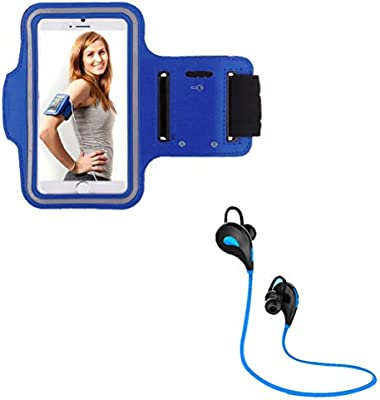 Pack Deportivo para Honor 20 Smartphone (Auriculares Bluetooth Sport + Brazalete) Courir T7 (Azul): Amazon.es: Electrónica