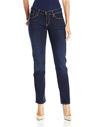 Signature by Levi Strauss & Co Women's Straight Jeans, Cosmos, 4 Medium