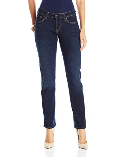Signature by Levi Strauss & Co Women's Straight Jeans, Cosmos, 12 Long (Womens Straight Jeans Leg)