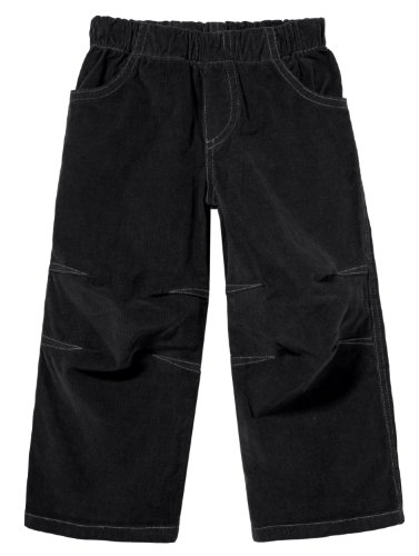 City Threads Boys' Corduroy Pull-Up Pants for School or Play; Comfortable for Active Children Toddler Warm Cords for Sensitive Skin or SPD Clothing - Black - 4