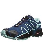 salomon women's xt inari trail running shoes - blue field