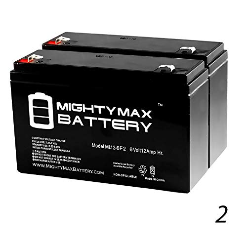 Mighty Max Battery 6V 12AH F2 Replaces Air Shields TI-1303 Transport Incubator - 2 Pack Brand Product