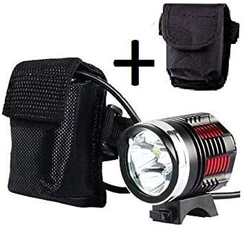 Luz delantera - Foco frontal para Bici 6000 lúmenes Linterna ...
