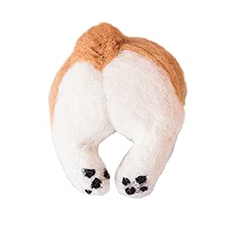 BLESSI Women's Flush Corgi Dog Ass Shape Hair Bands accessories (multicolored)