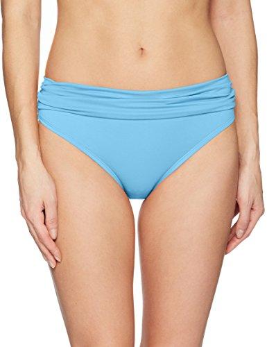 Bay Bikini Bottom - Swim Systems Women's Aloha Banded Bikini Bottom Swimsuit, Bay Blue, Small