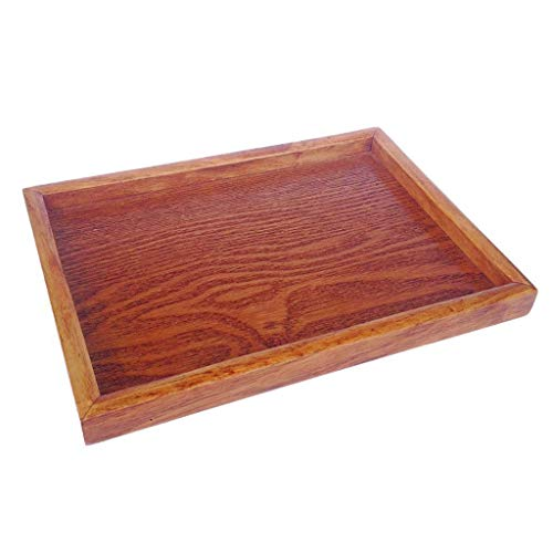 Vintage Japanese Wooden Serving Tray SPA Tea Food Dinner Brown Dish Plate-S by Agordo (Image #1)