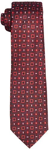 Park Avenue Men's Synthetic Necktie (PZNM17475-M8_Dark Maroon_150)