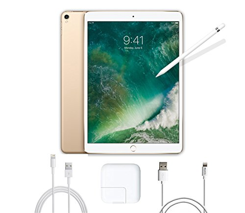 2017 New IPad Pro Bundle (3 Items): Apple 10.5 inch iPad Pro with Wi-Fi 256 GB Gold, Apple Pencil and Mytrix USB Apple Lightning Cable